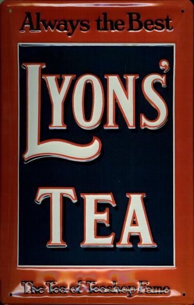 Blechschild Lyons Tea Tee Schild retro Werbeschild Nostalgieschild
