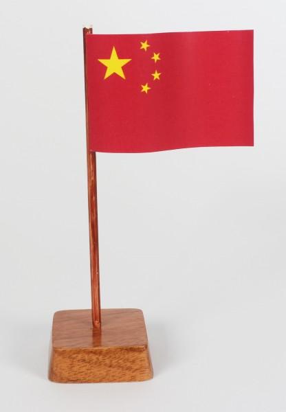 Mini Tischflagge China Höhe 13 cm Tischfähnchen