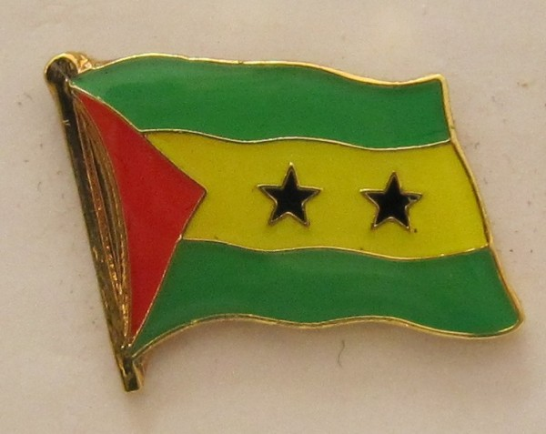 Sao Tome Pin Anstecker Flagge Fahne Nationalflagge