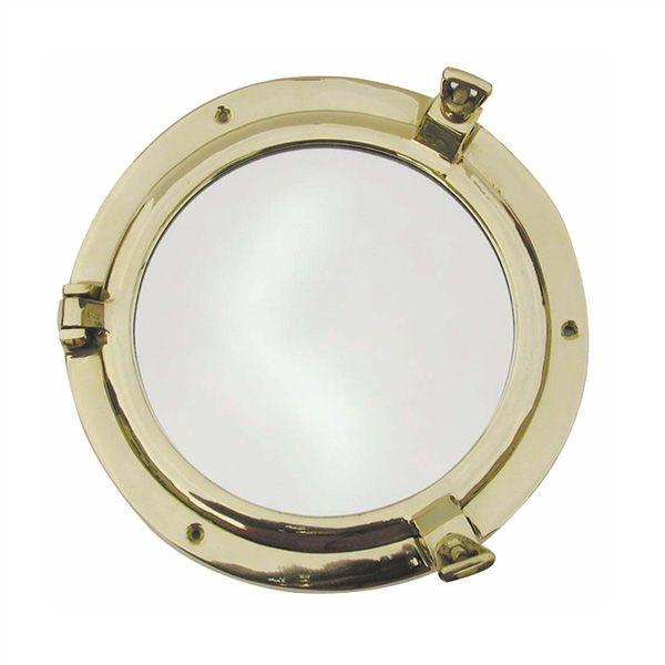Bullaugen Spiegel 200 mm Messing Bullauge Bullaugenspiegel