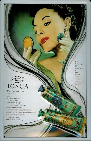 Blechschild 4711 Tosca (2) Tuben kölnisch Wasser Parfum Schild Werbeschild Nostalgieschild
