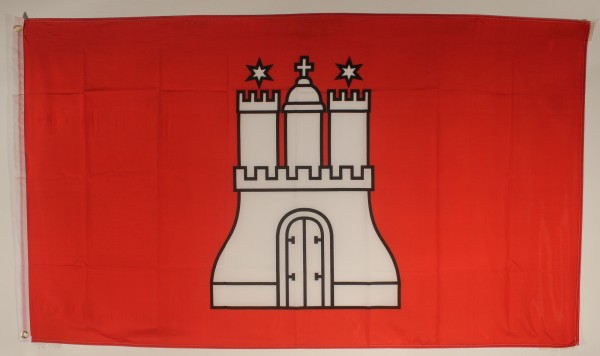 Flagge Fahne Hamburg 90x60 cm