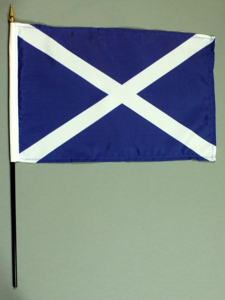 Tischflagge Schottland 20x30 cm optional mit Tischflaggenständer aus Mahagoni Holz