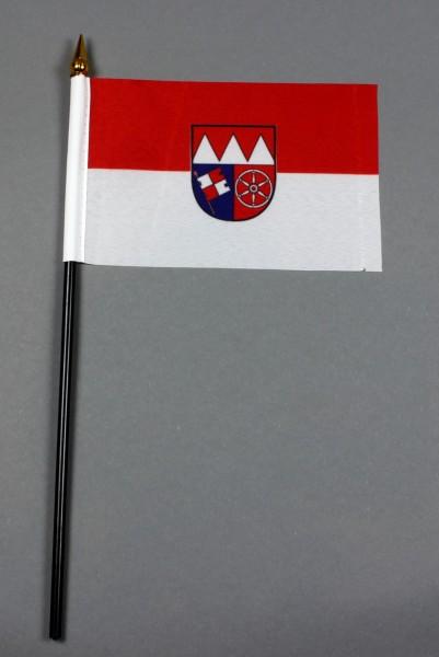 Kleine Tischflagge Unterfranken 10x15 cm optional mit Tischfähnchenständer