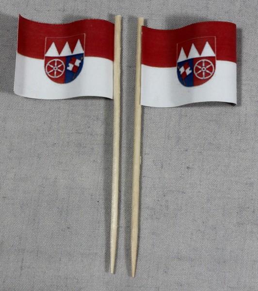 Party-Picker Flagge Unterfranken Papierfähnchen in Spitzenqualität 50 Stück Beutel