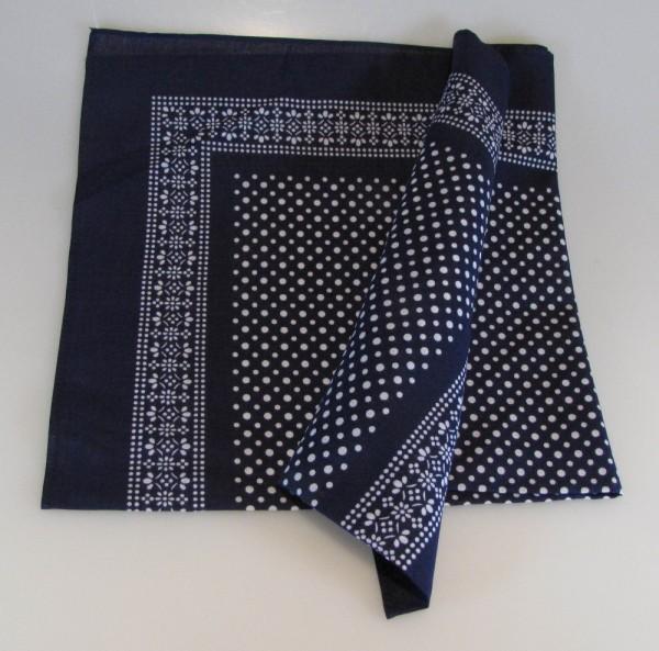 Vierecktuch kleine Punkte 54x54 cm blau Halstuch