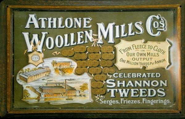 Blechschild Nostalgieschild Athlone Woollen Mills Irland