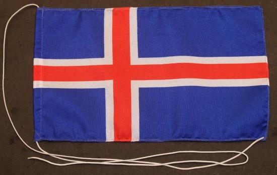 Tischflagge Island 25x15 cm optional mit Holz- oder Chromständer Tischfahne Tischfähnchen