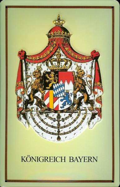 Blechschild Nostalgieschild Königreich Bayern Wappen