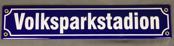 Strassenschild Volksparkstadion 40x8 cm Hamburg Souvenir Fußball Emaille Schild