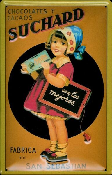 Blechschild Suchard Chocolates San Sebastian Schokolade Schild Nostalgieschild