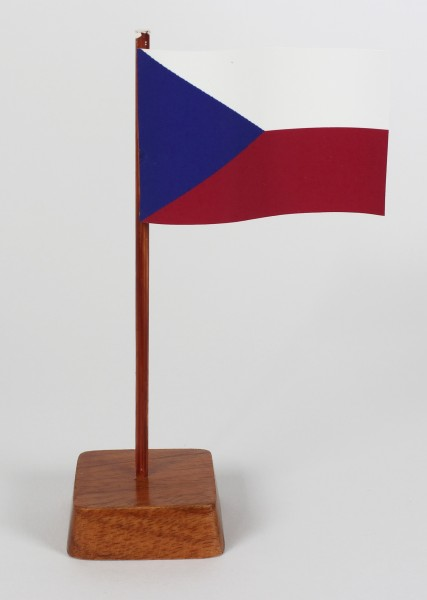 Mini Tischflagge Tschechien Höhe 13 cm Tischfähnchen
