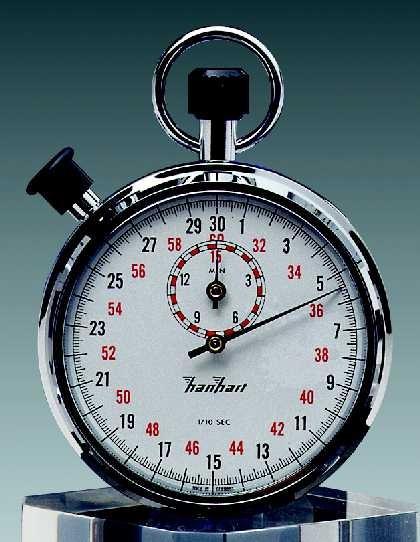 Mechanische analog Stoppuhr Hanhart 1/10 sec 15 min