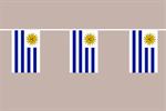 Uruguay Flaggenkette 6 Meter / 8 Flagge Fahne