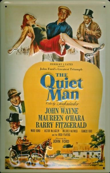 Blechschild Nostalgieschild Quiet Man John Wayne Filmplakat