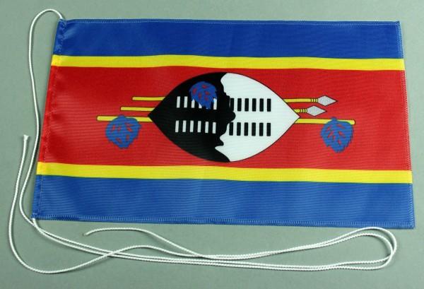 Tischflagge Swasiland 25x15 cm optional mit Holz- oder Chromständer Tischfahne Tischfähnchen