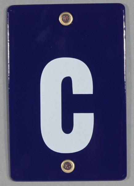 Hausnummernschild c Emaille Hausnummer Schild 12x8 cm Haus Nummer Zahl Ziffer Metallschild