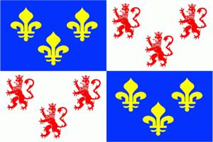 Flagge Fahne : Picardie Region Frankreich