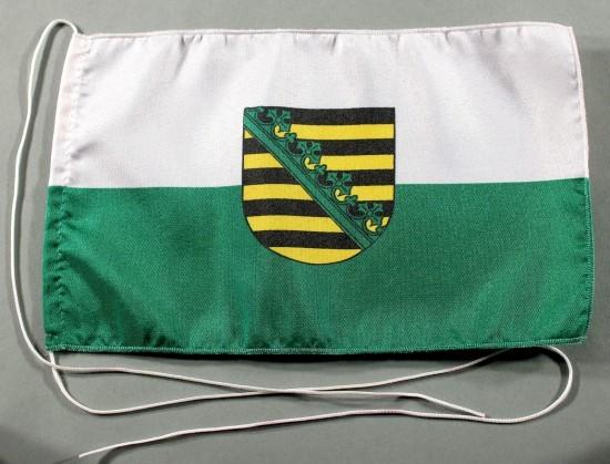 Tischflagge Sachsen 25x15 cm optional mit Holz- oder Chromständer Tischfahne Tischfähnchen