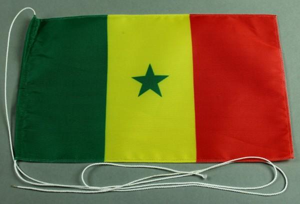 Tischflagge Senegal 25x15 cm optional mit Holz- oder Chromständer Tischfahne Tischfähnchen
