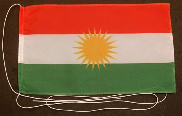 Tischflagge Kurdistan 25x15 cm optional mit Holz- oder Chromständer Tischfahne Tischfähnchen