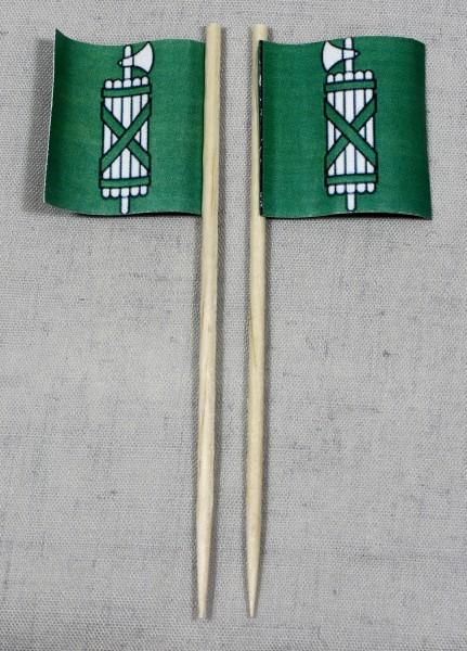 Party-Picker Flagge Sankt Gallen Kanton Schweiz Papierfähnchen in Spitzenqualität 50 Stück Beutel