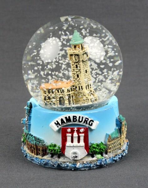 Schneekugel mit Hamburg St. Pauli Landungsbrücken 9x7 cm Schüttelkugel Glitzerkugel