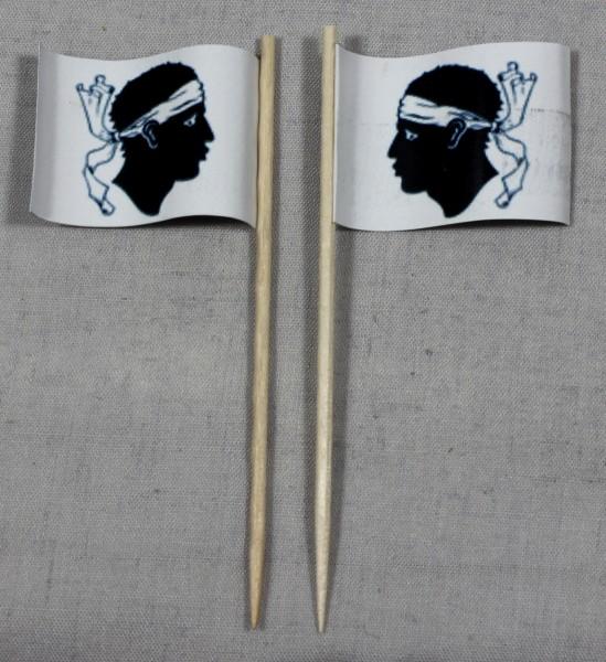 Party-Picker Flagge Korsika Frankreich Papierfähnchen in Spitzenqualität 50 Stück Beutel