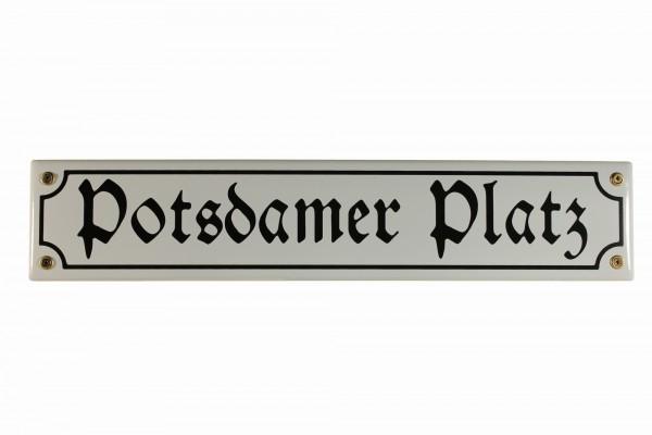 Strassenschild Potsdamer Platz 40x8 cm Berlin Andenken Email Strassen Schild Emaille