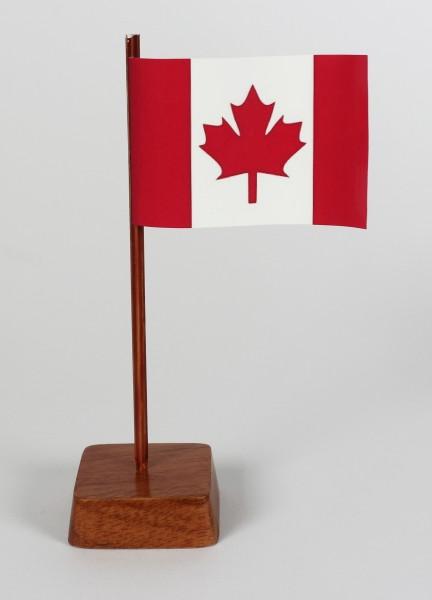 Mini Tischflagge Kanada Höhe 13 cm Tischfähnchen