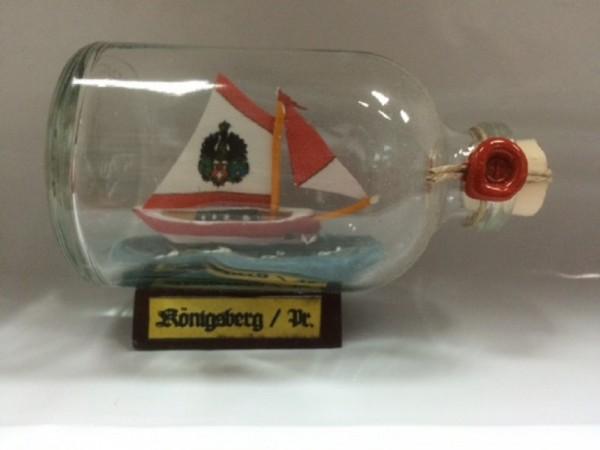 Königsberg Mini Buddelschiff 50 ml ca. 7,2 x 4,5 cm Flaschenschiff