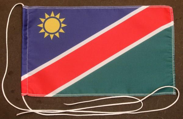 Tischflagge Namibia 25x15 cm optional mit Holz- oder Chromständer Tischfahne Tischfähnchen