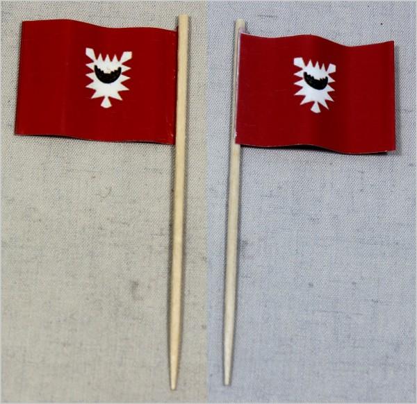 Party-Picker Flagge Kiel Papierfähnchen in Spitzenqualität 50 Stück Beutel