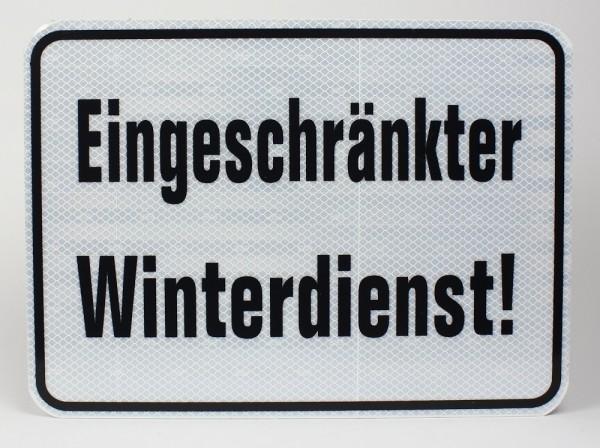 Reflektierendes Aluminium Schild Eingeschränkter Winterdienst