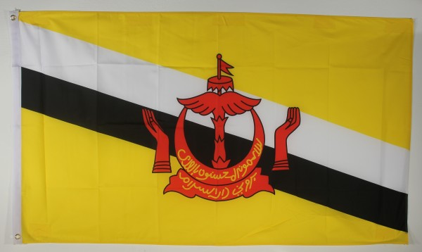 Flagge Fahne : Brunei Nationalflagge Nationalfahne