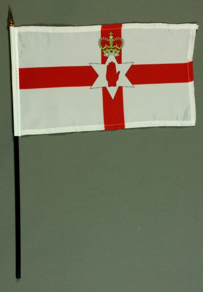Tischflagge Nordirland 25x15 cm BASIC optional mit Tischflaggenständer