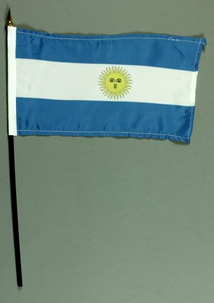 Tischflagge Argentinien 15x25 cm BASIC optional mit Tischflaggenständer