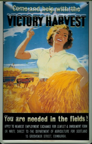 Blechschild Nostalgieschild Victory Harvest England Schottland