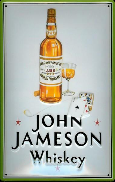 Blechschild John Jameson Whiskey (2) retro Schild Nostalgie Werbeschild