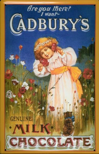 Blechschild Cadburys Milk Chocolate Kind Schokolade retro Schild Nostalgieschild