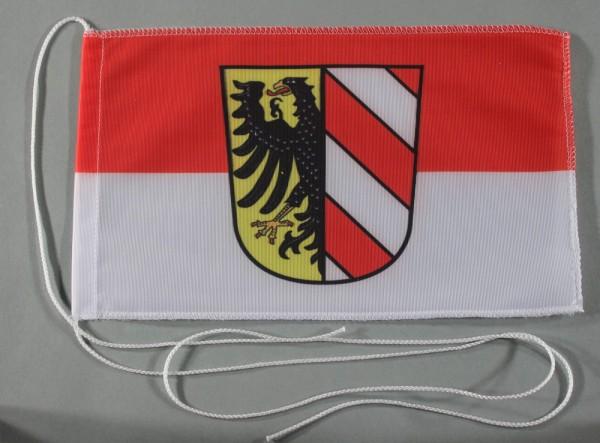 Tischflagge Nürnberg Stadtflagge 25x15 cm optional mit Holz- oder Chromständer Tischfahne Tischfähnc