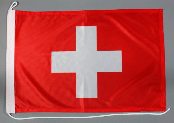 Bootsflagge Schweiz 30x45 cm Motorradflagge Bootsfahne