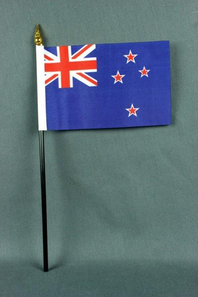 Kleine Tischflagge Neuseeland 10x15 cm optional mit Tischfähnchenständer