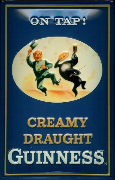 Blechschild Guinness Bier creamy drought Beer Schild Werbeschild
