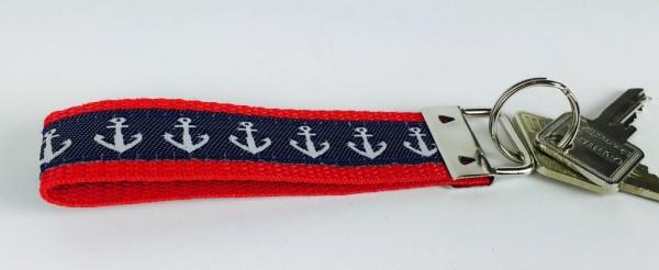 Schlüsselband Anker rot blau Schlüsselanhänger maritim
