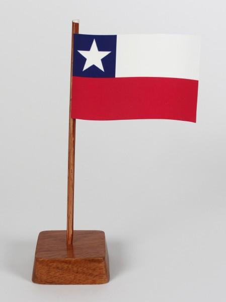 Mini Tischflagge Chile Höhe 13 cm Tischfähnchen