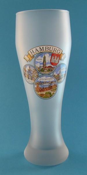 Weizenbierglas 4 Hamburg Bilder milchiges Glas