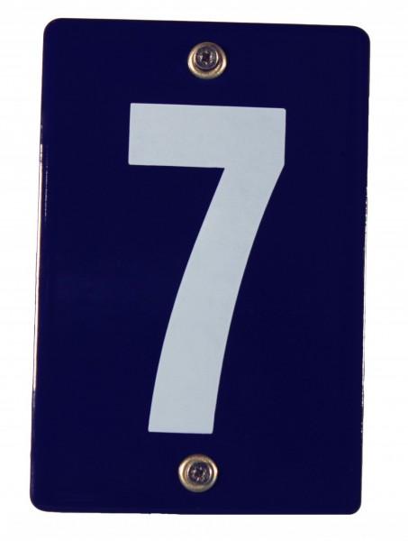Hausnummernschild 7 Emaille Hausnummer Schild 12x8 cm Haus Nummer Zahl Ziffer Metallschild