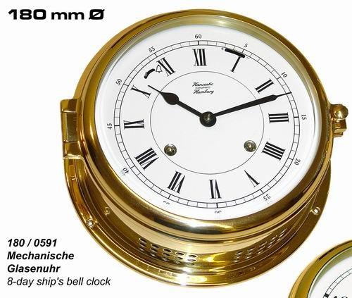 Glasenuhr mechanisch 180 mm