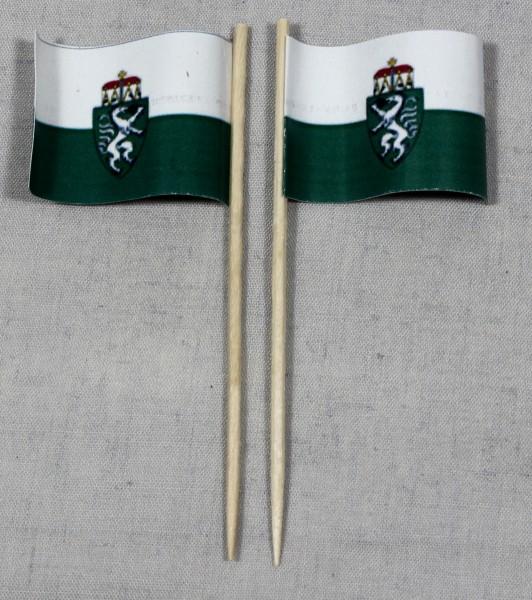 Party-Picker Flagge Steiermark Österreich Papierfähnchen in Spitzenqualität 50 Stück Beutel